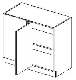 DNPL dolní skříňka do rohu rovná GOBI 100 cm