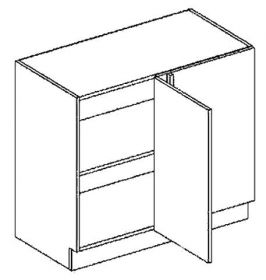 DNPP dolní skříňka do rohu rovná GOBI 100 cm