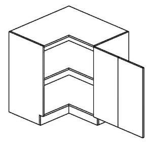 DRPP dolní skříňka rohová MERCURY Zebra 90x90 cm