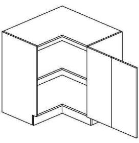 DRPP dolní skříňka rohová NORA de LUX 80x80 cm hruška