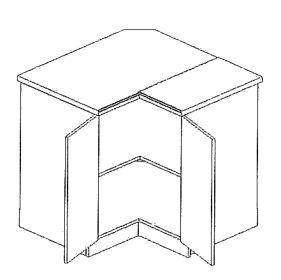 DRP dolní rohová skříňka MORENO sonoma