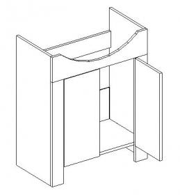 Koupelnová skříňka DUM pod umyvadlo TALIA duglaska/bílá