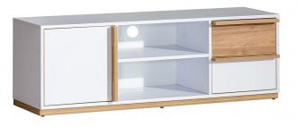 Televizní stolek EVADO E4 bílá/ořech