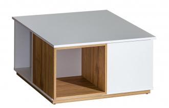 Konferenční stolek EVADO E13 bílá/ořech