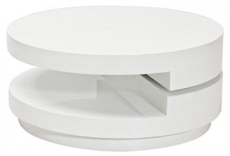 Konferenční stolek FABIOLA bílý rozkládací