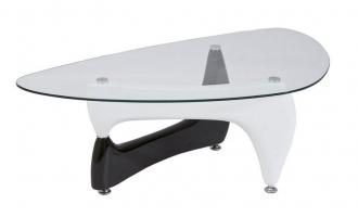 Konferenční stolek OMEGA II černá/bílá