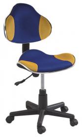 Studentská židle Q-G2 modrá/žlutá II