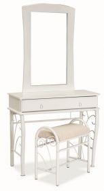 Toaletní stolek 1102 se zrcadlem bílá/bílá