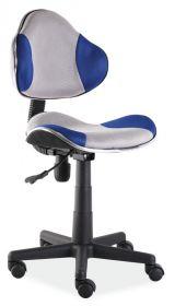 Studentská židle Q-G2 šedá/modrá