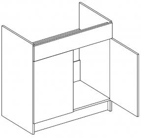 D80ZL dolní skříňka pod dřez MIA picard/bílá