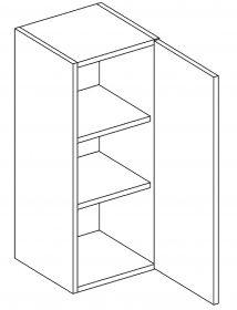 W30 horní skříňka jednodveřová pravá PAULA šedá/mat. šedá