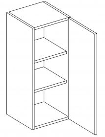 W30 horní skříňka jednodveřová pravá PAULA bílá mat