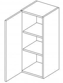 W30 horní skříňka jednodveřová levá PAULA šedá/mat. šedá