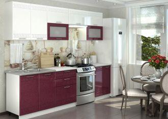 Kuchyně GREECE 260 bílá/granátový metalic