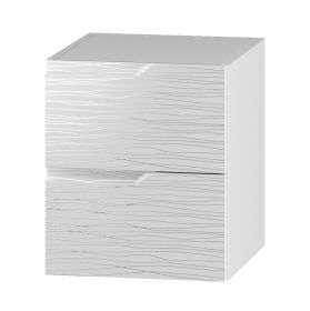 DUM 40 S/2 skříňka pod umyvadlo NARAN bílá hologram