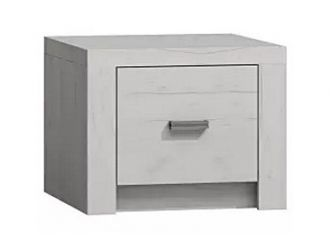 Noční stolek INDIANAPOLIS I-24 jasan bílý