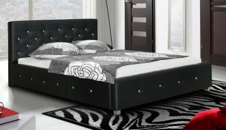 Čalouněná postel LUBNICE IV 160 Swarovski