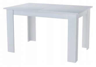 Jídelní stůl rozkládací KONGO 120(170)x80 bílá