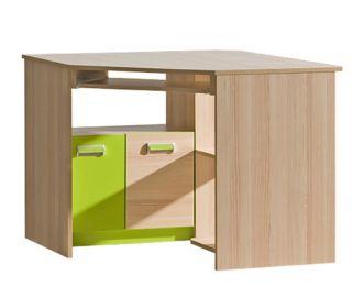 Pracovní rohový stůl LIMO L11 zelený