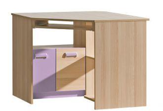 Pracovní rohový stůl LIMO L11 fialový