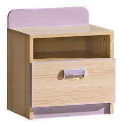 Noční stolek LIMO L12 fialový