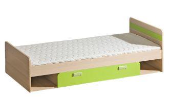 Dětská postel  LIMO L13 s úložným prostorem zelená