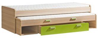 Dětská postel LIMO L16 výsuvná s úl. prostorem zelená
