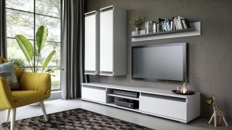 Obývací stěna OHIO bílá/antracit