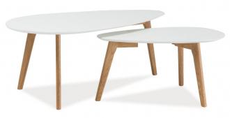 2SET konferenční stolky- sestava MILAN L2 bílá