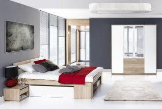 Ložnice MILO II postel+skříň+noční stolky