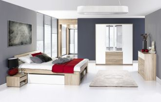 Ložnice MILO postel+komoda+skříň+noční stolky