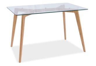 Jídelní stůl OSLO dub/sklo