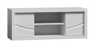 Televizní stolek PARIS P6 bílý lesk/bílá