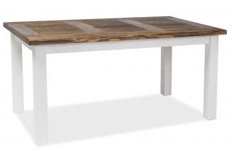Jídelní stůl Poprad 160x90 hnědý vosk/bílá
