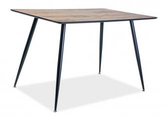 Jídelní stůl REMUS 120x80 ořech/černá mat