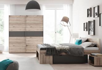 Ložnice ROMA postel+skříň+noční stolky