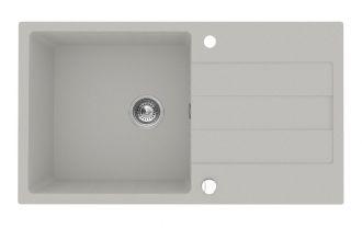 Pyragranitový dřez SPARTA PLUS LUX 1B 1D (78x48) grey