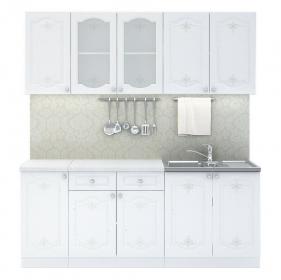Kuchyně CHARLIZE 200 bílá se vzorem