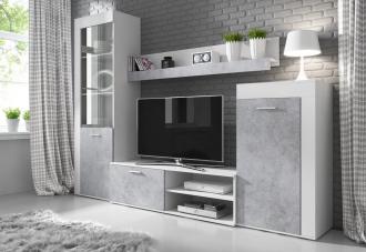 Obývací stěna SOLO bílá/beton