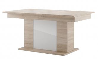 Jídelní stůl rozkládací STAR 06 dub sonoma/bílá