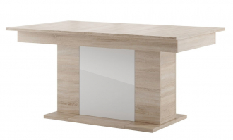 Jídelní stůl rozkládací POLSA 06 dub sonoma/bílá