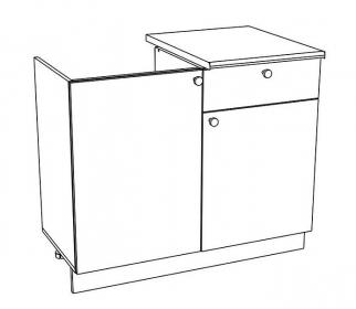 120DZ1S d. skříňka pod dřez se zásuvkou EKO bílá