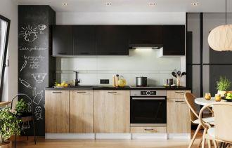 Kuchyně LUCIA 240 dub sonoma/černá mat
