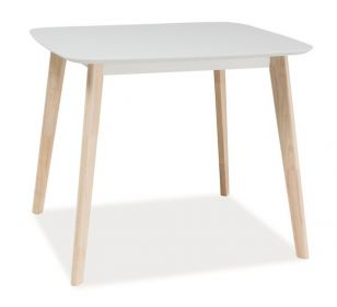 Jídelní stůl TIBI bílá/dub