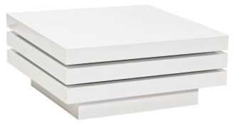 Konferenční stolek rozkládací TRISTA bílý