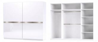 Šatní skříň GLOSSY varianta 3 bílá lesk