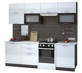 Kuchyně VALERIA 240 wenge/bílá lesk