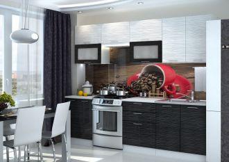 Kuchyně VALERIA 260 black stripe
