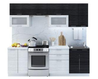 Kuchyně VALERIA I 240 black stripe