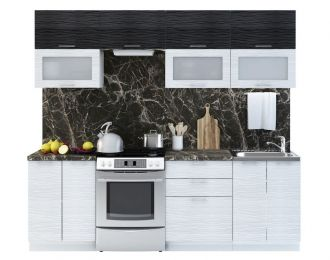 Kuchyně VALERIA II 240 black stripe